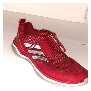 finest selection 13024 f436e 9.5 Red Adidas training shoes